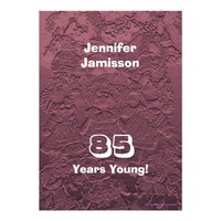 85 Years Young Birthday Pink Dolls Invitations