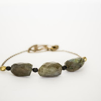 Gorgeous Faceted Labradorite Necklace