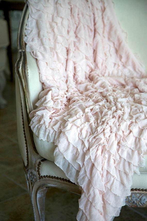 Soft Ruffled Throw Blanket Available In From Shabbyfufu