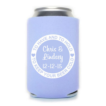 Custom Koozie/Can Cooler Wedding Anniversary favor/gift