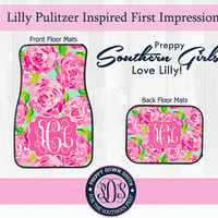 Lilly Pulitzer Inspired First Impressions Floor Mats