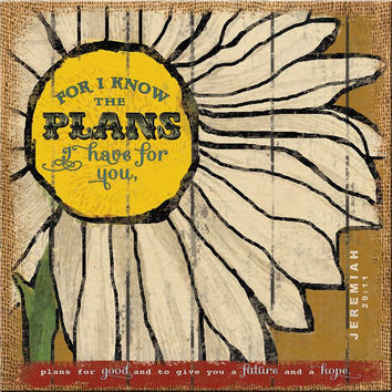 For I Know The Plans 16x16 Wall Art