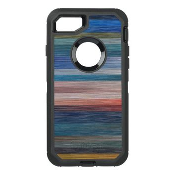 Geometric Colored Lines OtterBox Defender iPhone 7 Case
