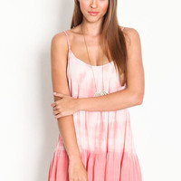 TIE DYE SCOOPBACK DRESS