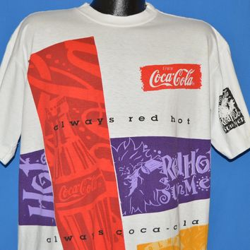 90s Coca Cola Always All Over Print t-shirt Extra Large