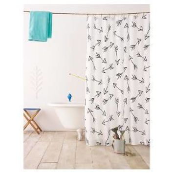 Black Arrow Shower Curtain - Pillowfort™ : Target