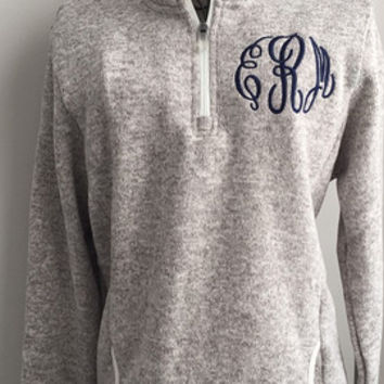 Shop Monogrammed 1/4 Zip Pullover on Wanelo