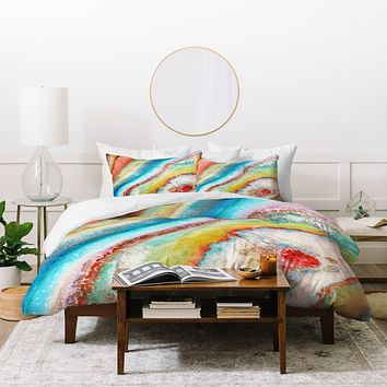 Viviana Gonzalez AGATE Inspired Watercolor Abstract 01 Duvet Cover