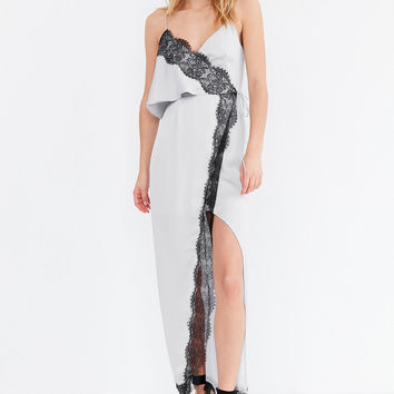 Keepsake Stop Me Tie-Front Lace Maxi Dress | Urban Outfitters