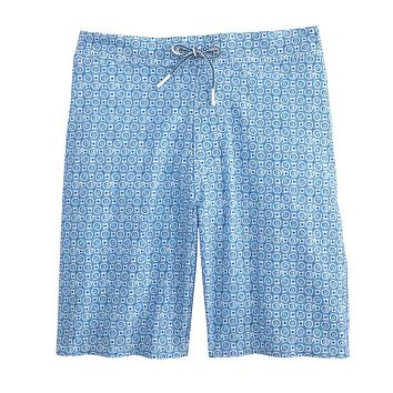 Southport Half Elastic Surf Shorts in Laguna Blue by Johnnie-O