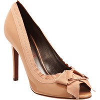 Lanvin Peep Toe Pump with Grosgrain Bow at Barneys New York at Barneys.com