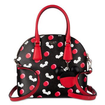 Disney Mickey Mouse Ear Hat Satchel Black by Kate Spade New York New with Tag