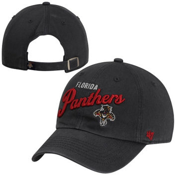 47 Brand Florida Panthers Womens Audrey Graphic Clean-Up Adjustable Hat - Navy Blue