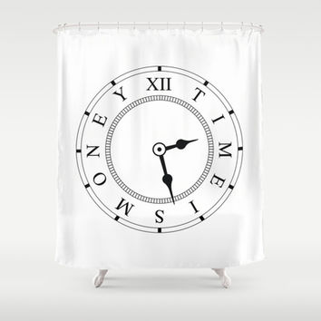 Time Is Money Shower Curtain by Rui Faria