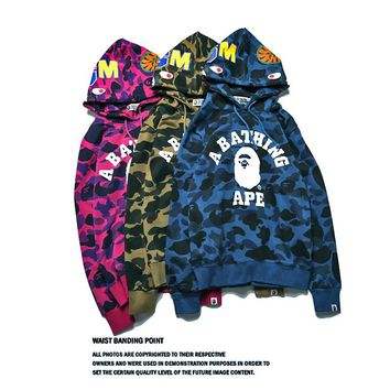 BAPE Hip Hop Ape head camouflage sweater S ~ 2XL