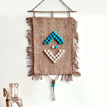 Woven wall art - Macrame - Weaving tapestry - aztec decor