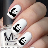 Big Panda nail decal
