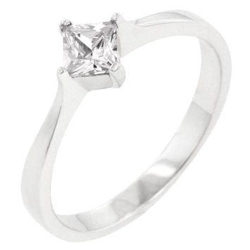 Classic Petite Solitaire Ring, size : 05