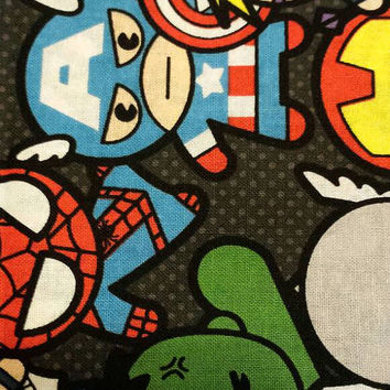 Marvel Kawaii packed Characters cotton fabric pick a size