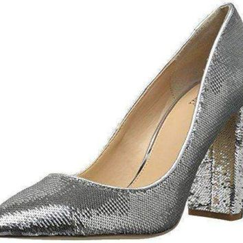 DCCKON3 Jewel Badgley Mischka Women's Luxury Pump, Silver, 8.5 Medium US
