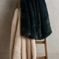 Fireside Faux-Fur Throw Blanket