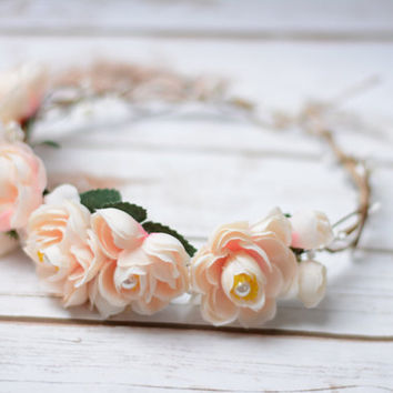 FLower Head Crown flower Headband Bridal Tiara Crown Festival wreath crown Flowergirl head band FLowergirl head crown