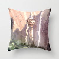 let down your hair Throw Pillow by studiomarshallarts