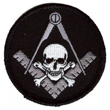 Patch Round Skull Square & Compass