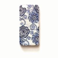 iPhone 6 Case Cover Mandala Floral Pattern iPhone 6 Hard Case Boho Back Cover For iPhone 6 Slim Design Case Mandala Blue 3215