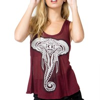 Cozy Elephant Tulip Back Tank