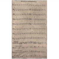 Musical Notes Bass Clef Tapestry