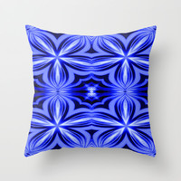 Blue Flower Throw Pillow by 2sweet4words