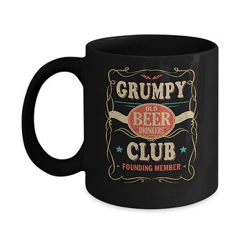 Grumpy Old Beer Drinkers Club Founding Member Fathers Day Mug