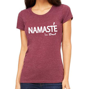 Namaste in bed Women Clothing T-shirt