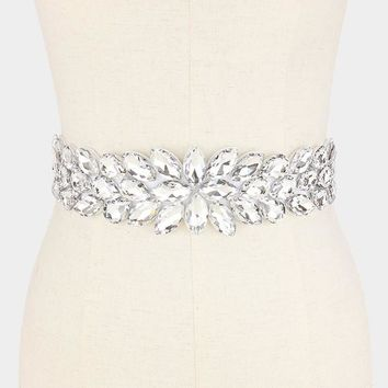 Rhinestone wedding belt #wb6572-333774