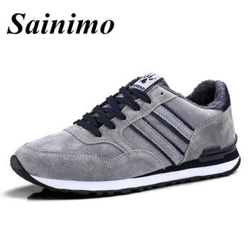 2018 Men Running Shoes Warm Fluff Sport Shoes Men Outdoor Athletic Jogging Shoes Men Sport Trainer Sneaker chaussure homme 38-45