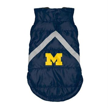ESBONI Michigan Wolverines Pet Puffer Vest