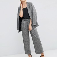 ASOS | ASOS Relaxed Workwear Check Culotte Pants at ASOS