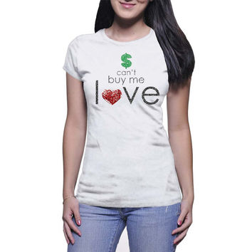 Money Can't Buy Me Love Graphic Tee (mj-os-NL3900-cantbuymelove-mltclr)