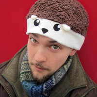 cute hedgehog Fleece Hat Anime Manga Cosplay Rave Skiing Snowboarding Video Game