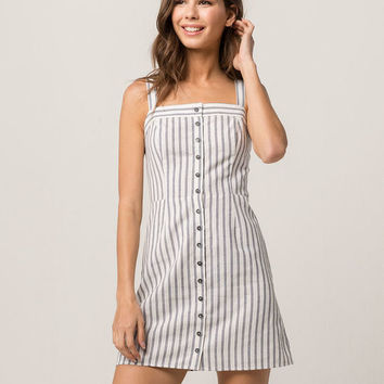 IVY & MAIN Stripe Button Front Dress