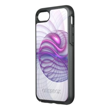 Beautiful Movements Abstract Fractal Art Pink OtterBox Symmetry iPhone 7 Case