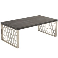 Skyline Coffee Table Stainless Steel / Oak
