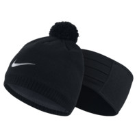 Nike Golf Knit Hat and Headband Set (Black)