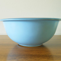 Blue Pyrex Clear Bottom 323 Nesting Bowl, Blue Pyrex 323, Blue 1.5 Quart Mixing Bowl, 1.5 Liter Mixing Bowl