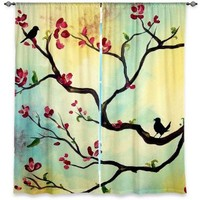 Window Curtains Unlined from DiaNoche Designs Artistic, Stylish, Unique, Decorative, Fun, Funky, Cool by Hillary Doggart-Greer Primavera