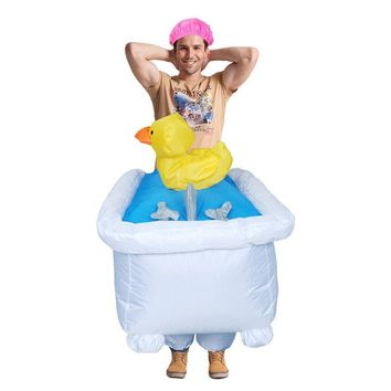 Disfraces Adultos Christmas Carnival Costume Inflatable Bathtub Costumes Halloween Costume for Men Cosplay Clothing