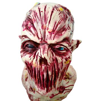 Adult Latex Scary Mask Full Head Face Breathable Halloween Mask Horrible Mask Fancy Dress Horror Mask