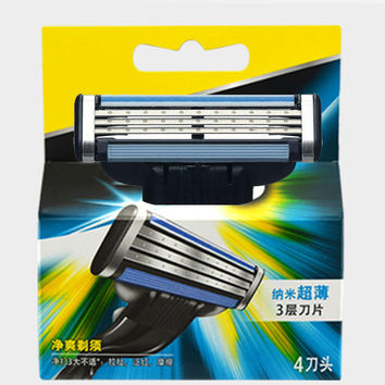 4pcs/pack Hot sale Brand top M3 razor blades for men mache 3 blades without the original package free shipping