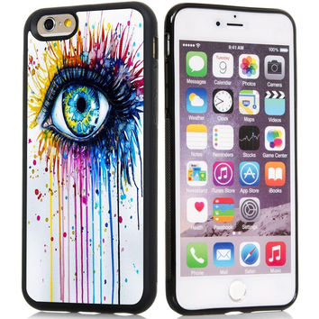 Eyes Watercolor Painting Case Cover For iPhone6S, iPhone 6S Plus Artistic Cell Phone Cases Covers
